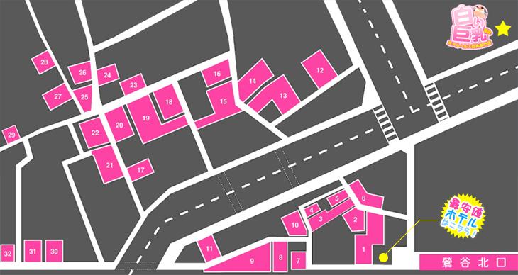 鶯谷周辺ホテルマップ